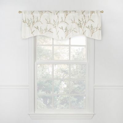 Caprea Sheer Scalloped Sheer Valance in White