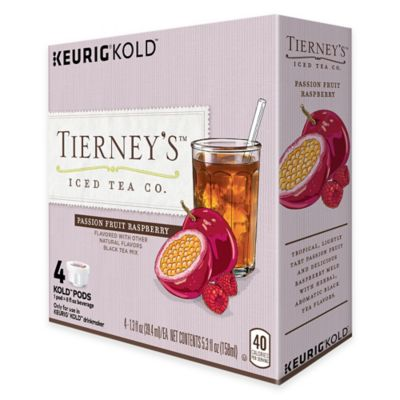 Keurig® KOLD™ 4-Count Tierney's™ Iced Tea Co. Passion Fruit Raspberry