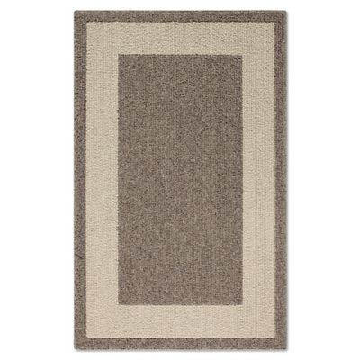 Classic Border 2-Foot x 5-Foot Accent Rug in Heather