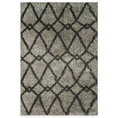 Loloi Rugs Cosma Arrow 3-Foot 9-Inch x 5-Foot 6-Inch Shag Rug in Grey/Charcoal