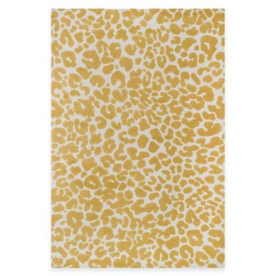 Loloi Rugs Cassidy Animal 3-Foot 6-Inch x 5-Foot 6-Inch Area Rug in Ivory/Gold