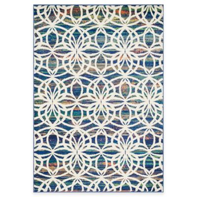 Loloi Lyon Spiral 7-Foot 7-Inch x 10-Foot 5-Inch Area Rug in Blue