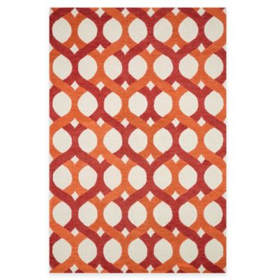 Loloi Rugs Weston Interlock 3-Foot 6-Inch x 5-Foot 6-Inch Area Rug in Red/Orange