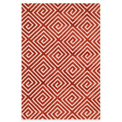 Loloi Rugs Cassidy Squares 3-Foot 6-Inch x 5-Foot 6-Inch Area Rug in Rust