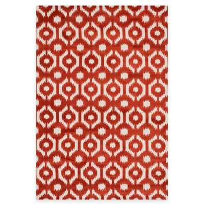 Loloi Rugs Cassidy Circles 2-Foot 3-Inch x 3-Foot Area Rug in Rust