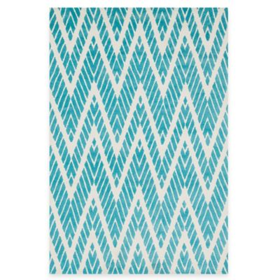 Loloi Rugs Cassidy Chevron 3-Foot 6-Inch x 5-Foot 6-Inch Area Rug in Aqua
