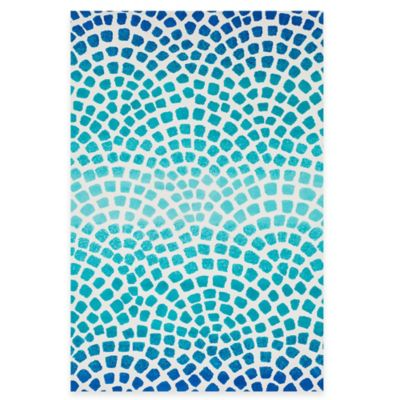 Loloi Rugs Cassidy Tile 3-Foot 6-Inch x 5-Foot 6-Inch Area Rug in Blue