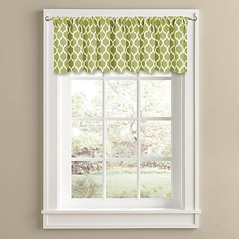buy morocco 14 inch window valance in green from bed bath