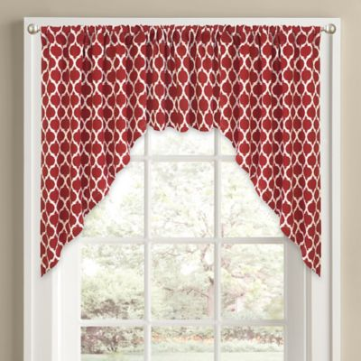 Yellow Red Curtain Valance