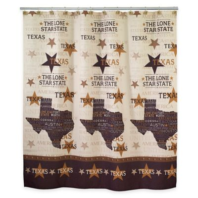 Avanti Texas Lone Star Shower Curtain in Beige