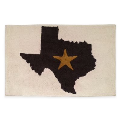 Avanti Texas Lone Star Bath Rug in Beige