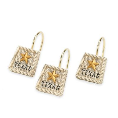 Avanti Texas Lone Star Shower Curtain Hooks (Set of 12)