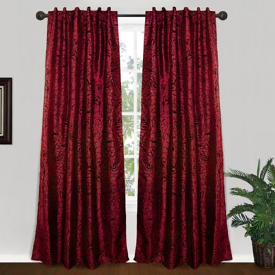 Park B. Smith® Cabbage Rose 84-Inch Tab Top Window Curtain Panel in Brick