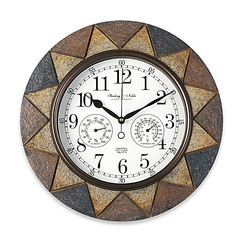 Buy Slate Indoor/Outdoor Wall Clock from Bed Bath & Beyond