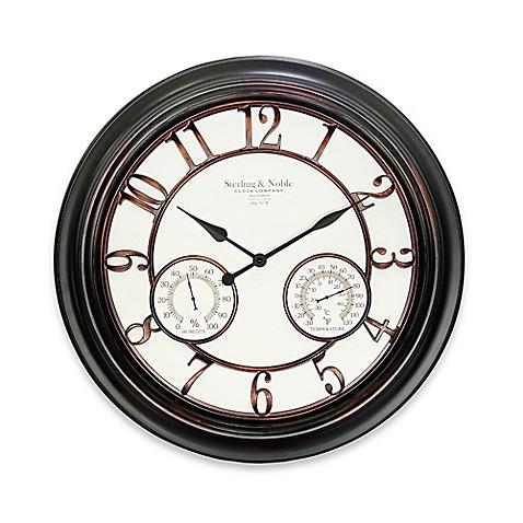 Buy 23 5 Inch Round Indoor Outdoor Wall Clock In Bronze