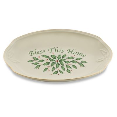 Lenox® Holiday™ Bless This Home Bread Tray