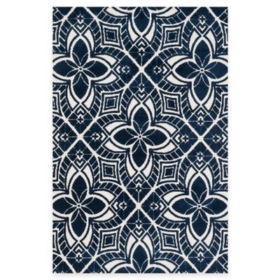 Loloi Rugs Cassidy Floral 2-Foot 3-Inch x 3-Foot 9-Inch Accent Rug in Navy