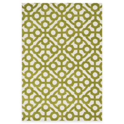 Loloi Rugs Cassidy Geometric 3-Foot 6-Inch x 5-Foot 6-Inch Area Rug in Green