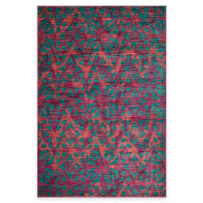 Loloi Rugs Lyon Geometric 5-Foot 2-Inch x 7-Foot 7-Inch Area Rug in Dark Teal