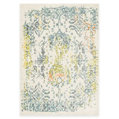 Loloi Rugs Lyon Damask 2-Foot x 3-Foot Area Rug in Ivory/Slate