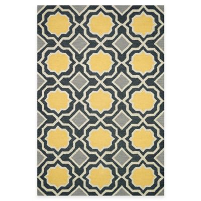 Loloi Rugs Weston Geometric 3-Foot 6-Inch x 5-Foot 6-Inch Area Rug in Charcoal/Gold