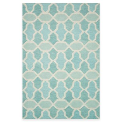Loloi Rugs Weston Tiles 3-Foot 6-Inch x 5-Foot 6-Inch Area Rug in Aqua