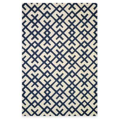 Loloi Rugs Weston Hatch 3-Foot 6-Inch x 5-Foot 6-Inch Area Rug in Ivory/Navy