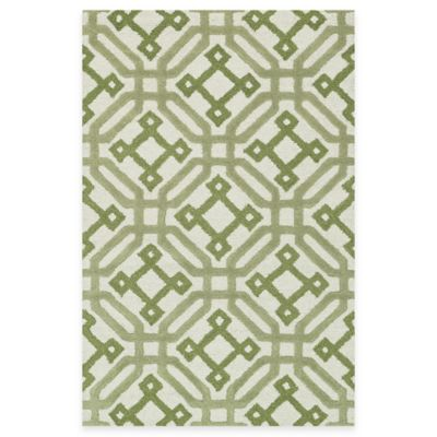 Loloi Rugs Weston Modern 3-Foot 6-Inch x 5-Foot 6-Inch Area Rug in Ivory/Green