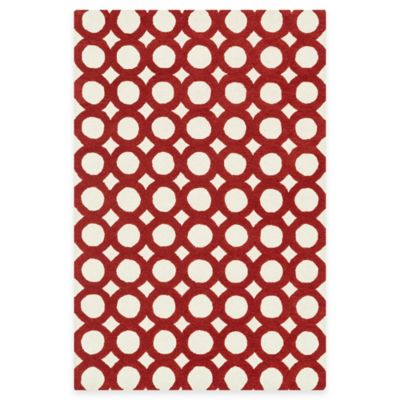 Loloi Rugs Weston Circles 7-Foot 9-Inch x 9-Foot 9-Inch Area Rug in Ivory/Red
