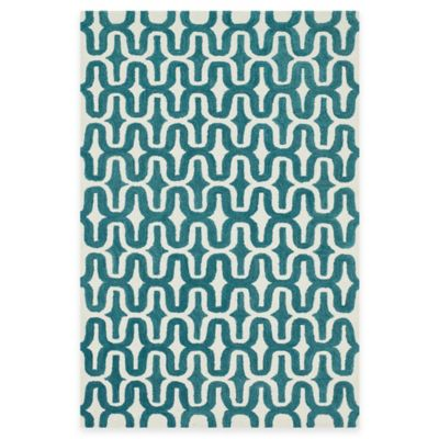 Loloi Rugs Weston Mod 3-Foot 6-Inch x 5-Foot 6-Inch Area Rug in Ivory/Teal