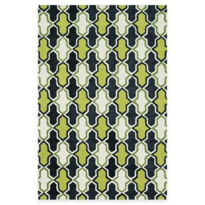 Loloi Rugs Weston Retro 3-Foot 6-Inch x 5-Foot 6-Inch Area Rug in Lime/Charcoal