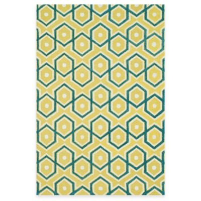 Yellow Chain Rug