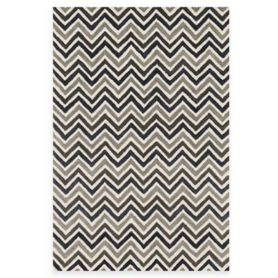 Loloi Rugs Weston Zig Zag 7-Foot 9-Inch x 9-Foot 9-Inch Area Rug in Ivory/Grey