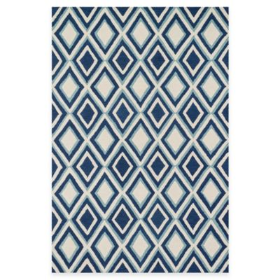 Loloi Rugs Weston Diamonds 2-Foot 3-Inch x 3-Foot 9-Inch Accent Rug in Ivory/Blue