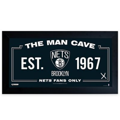 NBA Brooklyn Nets Large Man Cave Sign