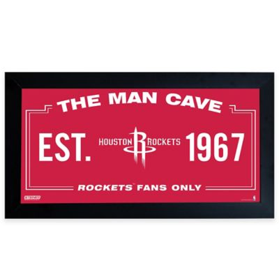 Houston Rockets Large Man Cave Sign