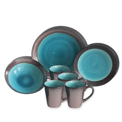 Baum Jade Copper 16-Piece Dinnerware Set