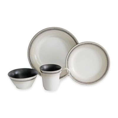 Baum Bellepoint 16-Piece Dinnerware Set in Sand