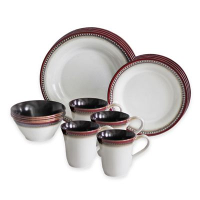 Baum Bellepoint 16-Piece Dinnerware Set in Brick