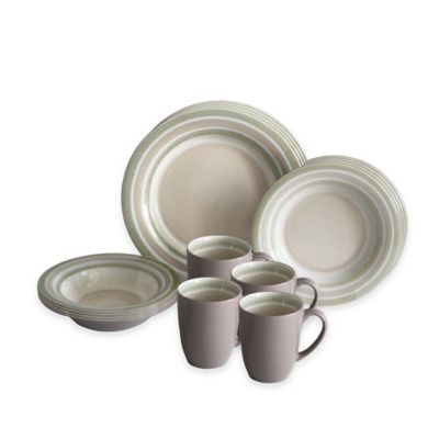 Baum Color Stack 16-Piece Dinnerware Set in Latte