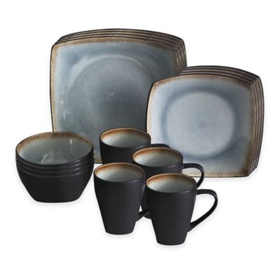 Baum Meadow 16-Piece Dinnerware Set in Blue