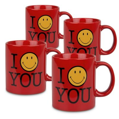 "Konitz ""I Smile You"" Mugs (Set of 4)"