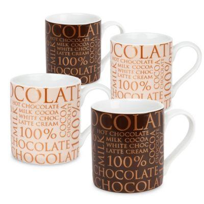 "Konitz ""100% Chocolate"" Mugs (Set of 4)"