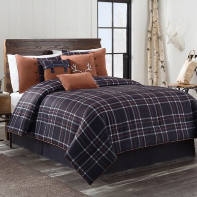 Hayes 7-Piece California King Comforter Set in Dark Navy