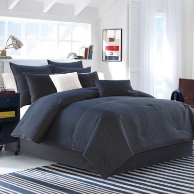 Nautica® Seaward King Duvet Cover Set in Denim Blue