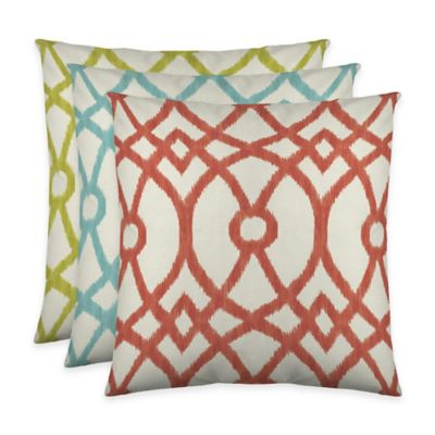 Colorfly™ Piper Throw Pillow in Aqua (Set of 2)