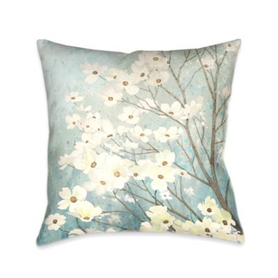 Laural Home® Dogwood Blossoms Square Throw Pillow