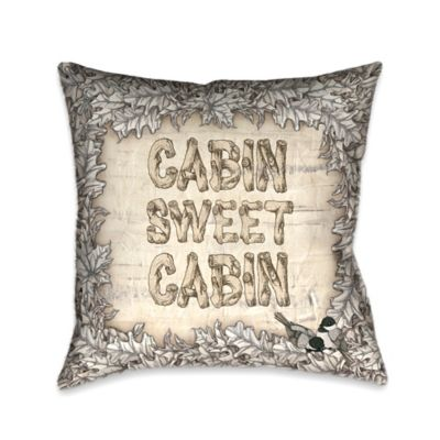 Laural Home Cabin Sweet Cabin Reversible Throw Pillow