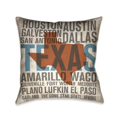 Laural Home® State Texas Square Throw Pillow