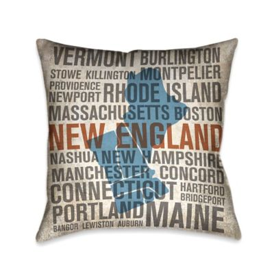 Laural Home® State New England Square Throw Pillow
